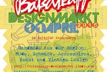 Batchkapp Designmarkt Mannheim / Am 11. April 2015 findet eine neues Event im Kultclub Batschkapp Frankfurt statt: ein Designmarkt für Mode, Schmuck, Wohnaccesoires, Kunst und Vintage Design von Designer und Händler aus ganz Deutschland. Infos: http://batschkapp-designmarkt.jimdo.com/