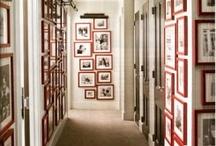 Just around the corner / Hanging framed artwork around and into corners