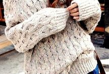 chunky knits / clothing