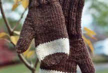 mittens, gloves..