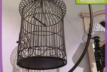 Клетка для птиц в декоре / Клетка для птиц — удивительно весенний и романтичный предмет интерьера. Вот несколько идей, как можно использовать его в декоре помещения.