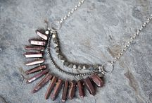 Statement crystal quartz necklaces / Crystal quartz necklaces by Rosehip Jewelry