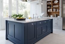 In the navy / A timeless classic: add instant sophistication to your home with a navy blue kitchen.