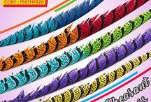 Zebra Pheasant Feathers