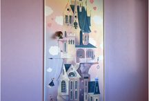 Murals - a castle for Princess. / Murals in St. Petersburg.  author - Maslova L.V. Art painting in the nursery. The painting was done with acrylic paints. based on DANIEL MERRIAM