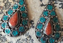 Earrings from Tibet and Nepal / Earrings from Tibet and Nepal