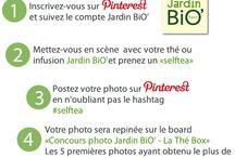 Concours photo Jardin BiO' - La Thé box / Du 17 au 30 septembre  #concours photo #Jardinbio #lathébox 1.S'inscrire sur Pinterest & suivre le compte Jardin BiO'  2.Mettez-vous en scène avec votre thé ou infusion Jardin BiO' et prenez un « selftea » 3.Postez votre photo sur Pinterest en n'oubliant pas le #selftea 4.Votre photo sera repinée sur le board «  Concours photo Jardin BiO'  - La Thé Box ». Les 5 photos ayant obtenus le plus de « like » désigneront les gagnants !  Règlement : http://www.jardinbio.fr/