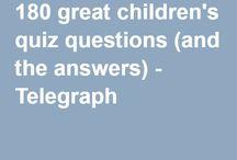 Children's quizzes