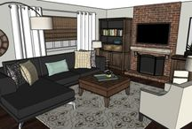 Comfy and Stylish Family Room! / Designed by our own designers, here at MyDesignGuide.com!