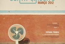 Curta Circuito 2012 / Conjunto de Peças Gráficas produzidas pelo Curta Circuito em 2012. Designer Naraiana Peret.