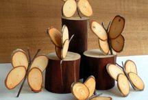 dřevěné hračky a dekorace