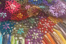 Grannysquare shawls
