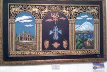 pinturas, cuadros /  cuadros y  pinturas realizadas con tecnicas mixtas, oleos, acriicos.