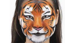 Maquillage tigre / Maquillage tigres du BB à l'adulte