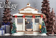 Department 56 - Snow Village / The Original Snow Village was built with the same traditions and values found in small towns across America – the shops and neighborhoods of main street, USA, continue to prosper and grow.
