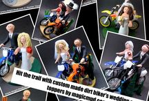 """Collages"" of Wedding Cake Topper / Custom sculpted wedding cake toppers presented in ""collage categories""… take a look at these made to order wedding figurines and be inspired to design your own     1 800 231 9814      magicmud.com"