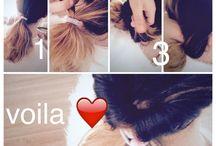 Coiffures tres faciles / Petites coiffures faites par moi