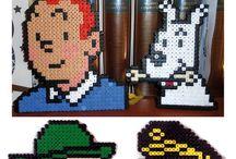 z - pixel art - Tintin
