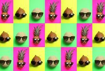 Pineapple + sunglasses