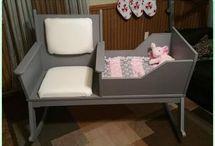 Yeni doğan bebeklere bakıcı kanepesi :