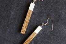 dřevěné naušnice