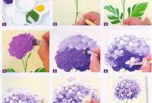 πως ζωγραφιζω λουλουδια