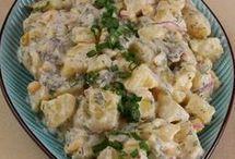 Patates salatası hardal soslu