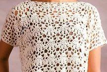 Вязаные крючком блузки