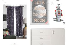 Space inspired boys bedroom