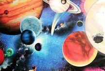Universo - colagem / ilustração