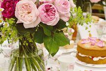 Tea. Flowers