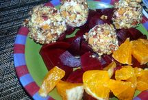 Almond Crusted Goat Cheese with Beets and Tangerines