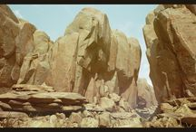 3d rock, cliff etc.