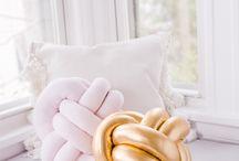 DIY knot pillows