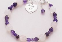Healing Jewellery / Made with real Sterling silver and beautiful semi-precious gemstones. Some items can be personalised with engraving. www.jewels4girls.net