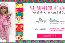 Summer Sewing Camp / Summer Camp @ CraftyStitches! We are in the Village at Leesburg (Wegmans) Shopping center off of rt. 7. Come check out some of our projects! 1604 Village Market Blvd SE #105 Leesburg VA 20175. 571 291 5070 / by Craftystitches Sewing Studio