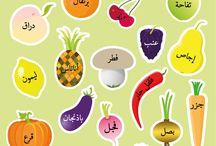 بطاقات اللغة العربية