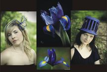 Iris Range / These Hats and Fascinators were inspired by Iris flowers