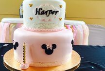 Minnie Mouse themed 1st birthday