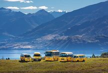 Getting From A to B... / A selection of transport options, stopovers and routes for getting guests and clients to Wanaka, quickly and smoothly.