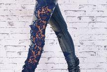 jeans com renda