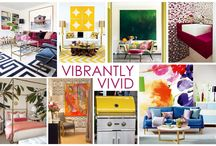 KKDL TRENDWATCH 2016: VIBRANTLY VIVID / Throw caution to the wind with 2016's most lively trend: Vibrantly Vivid. Easily attainable, Vibrantly Vivid focuses on playing with patterns and textures in an array of colors and shades to create a unique and, well, vibrant living space. Adopt this trend by adding a brightly colored lacquer grill to your outdoor kitchen or an effervescent wallpaper to your bathroom to inspire both yourself and your home to live a little. / by Kerrie Kelly Design Lab