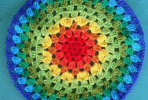 Crochet Mandala / Mandala (Sanskrit: मण्डल Maṇḍala, 'circle') is a spiritual and ritual symbol in Hinduism and Buddhism, representing the Universe. The basic form of most mandalas is a square with four gates containing a circle with a center point.