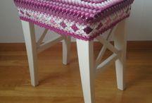 DIY - Crochet stool cover of granny squares