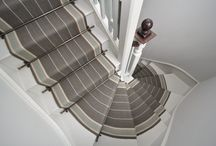 Off The Loom Stair Runner | Whalton 2 with Kensington Stair Rods