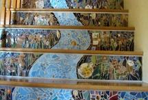 Mosaic mural tiles