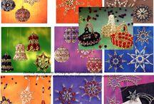 Christmas ornaments from beads / рождественские украшения из бисера и бусин