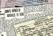 Death Records / resources for searching death records
