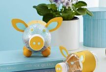 Poppies unicorn money box