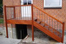 Inspiration til terrasse/trappe